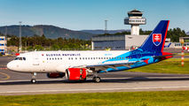 Slovak Airbus A319 visited Bergen title=