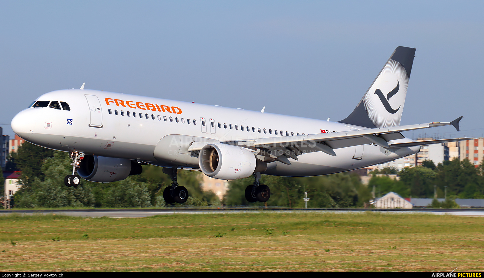 FreeBird Airlines TC-FBV aircraft at Lviv Danylo Halytskyi International Airport (Lwów Skniłów)