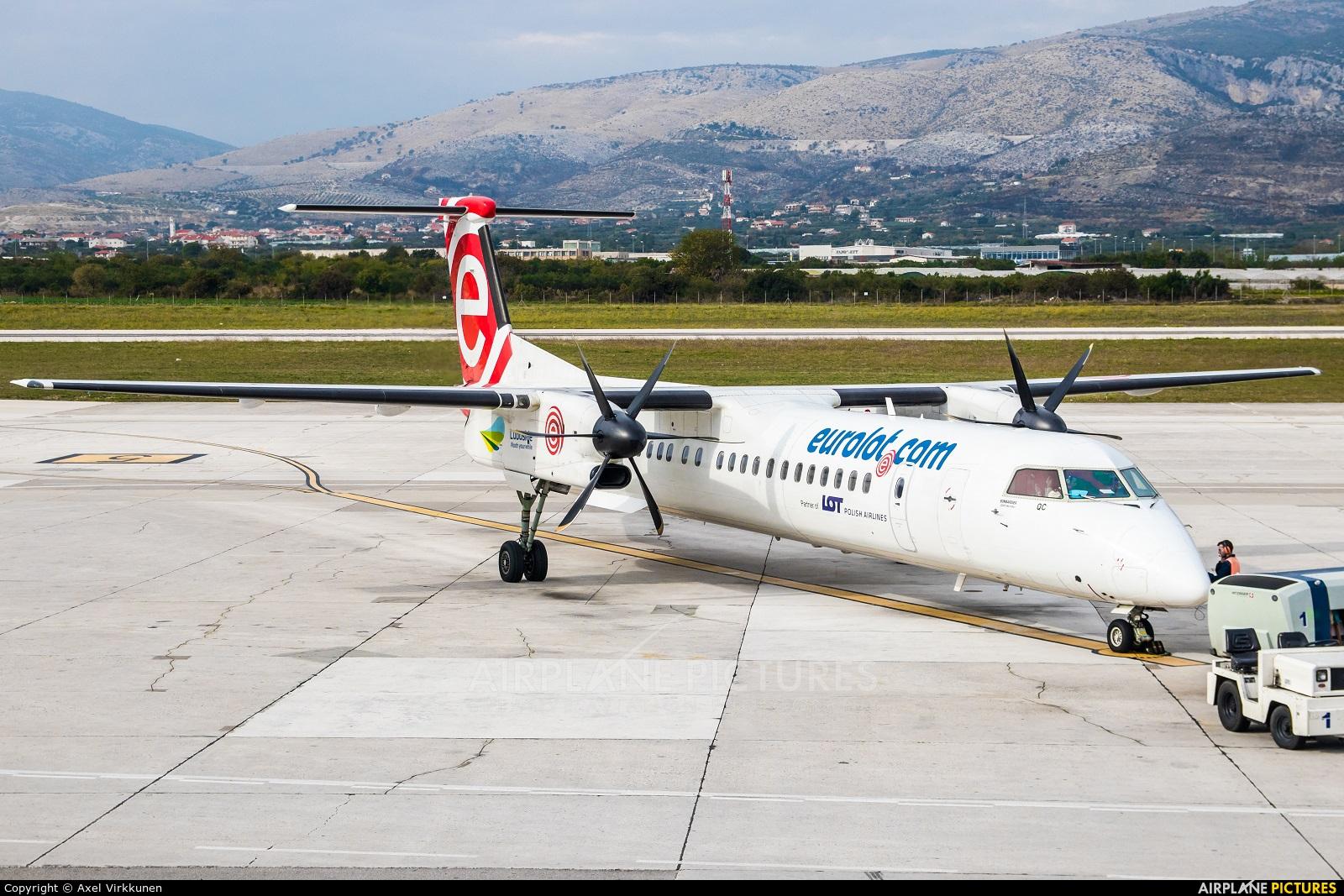 euroLOT SP-EQC aircraft at Split - Kaštela