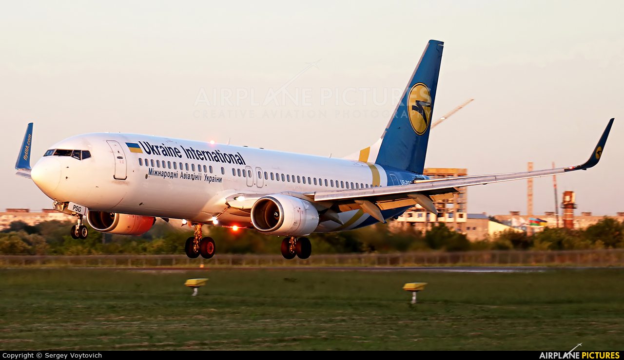 Ukraine International Airlines UR-PSG aircraft at Lviv Danylo Halytskyi International Airport (Lwów Skniłów)