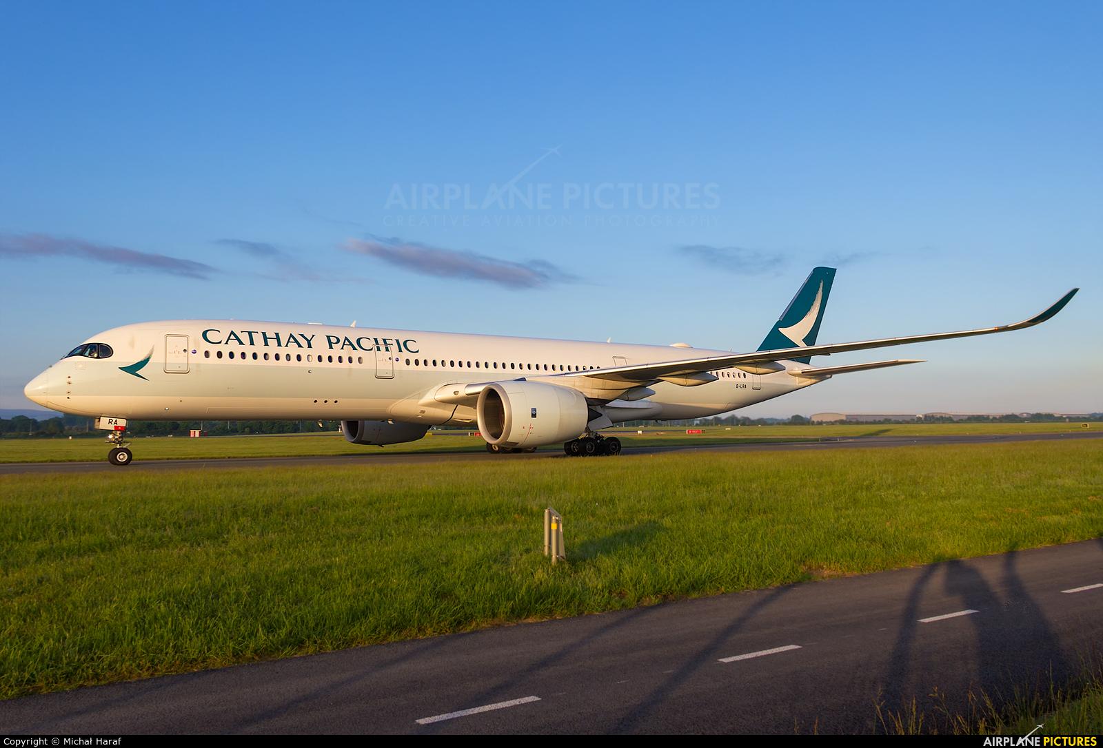 Cathay Pacific B-LRA aircraft at Dublin