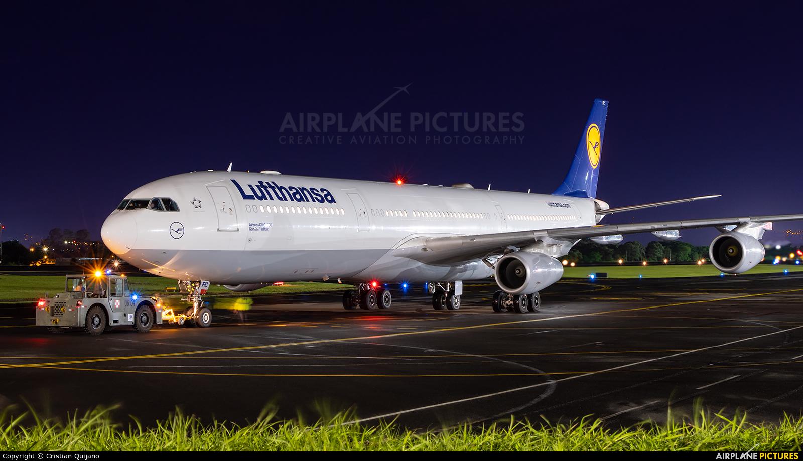 Lufthansa D-AIFC aircraft at San Jose - Juan Santamaría Intl