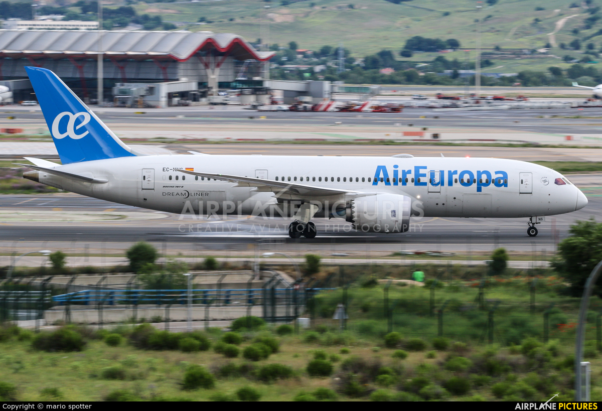 Air Europa EC-MNS aircraft at Madrid - Barajas