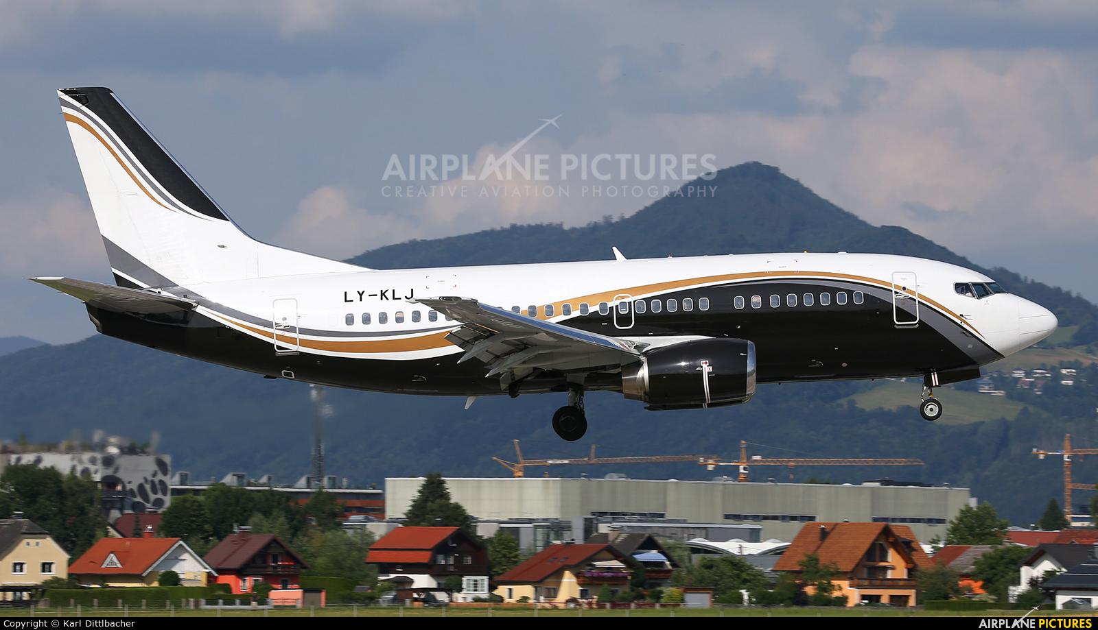 KlasJet LY-KLJ aircraft at Salzburg