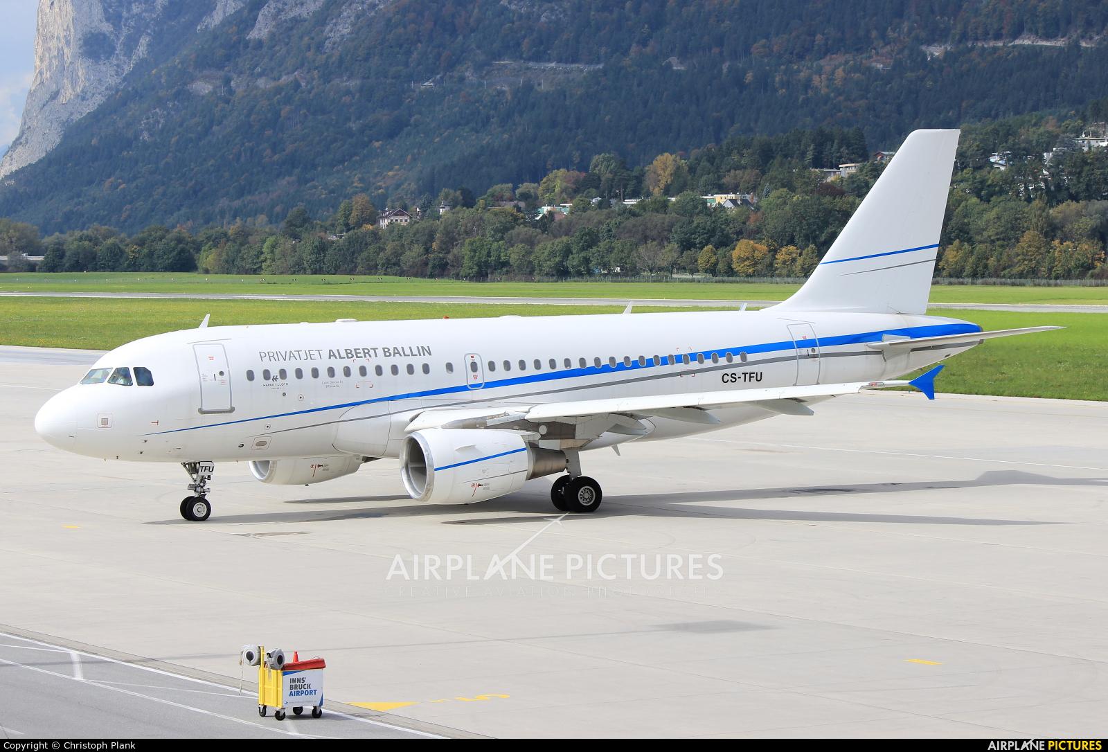 White Airways CS-TFU aircraft at Innsbruck