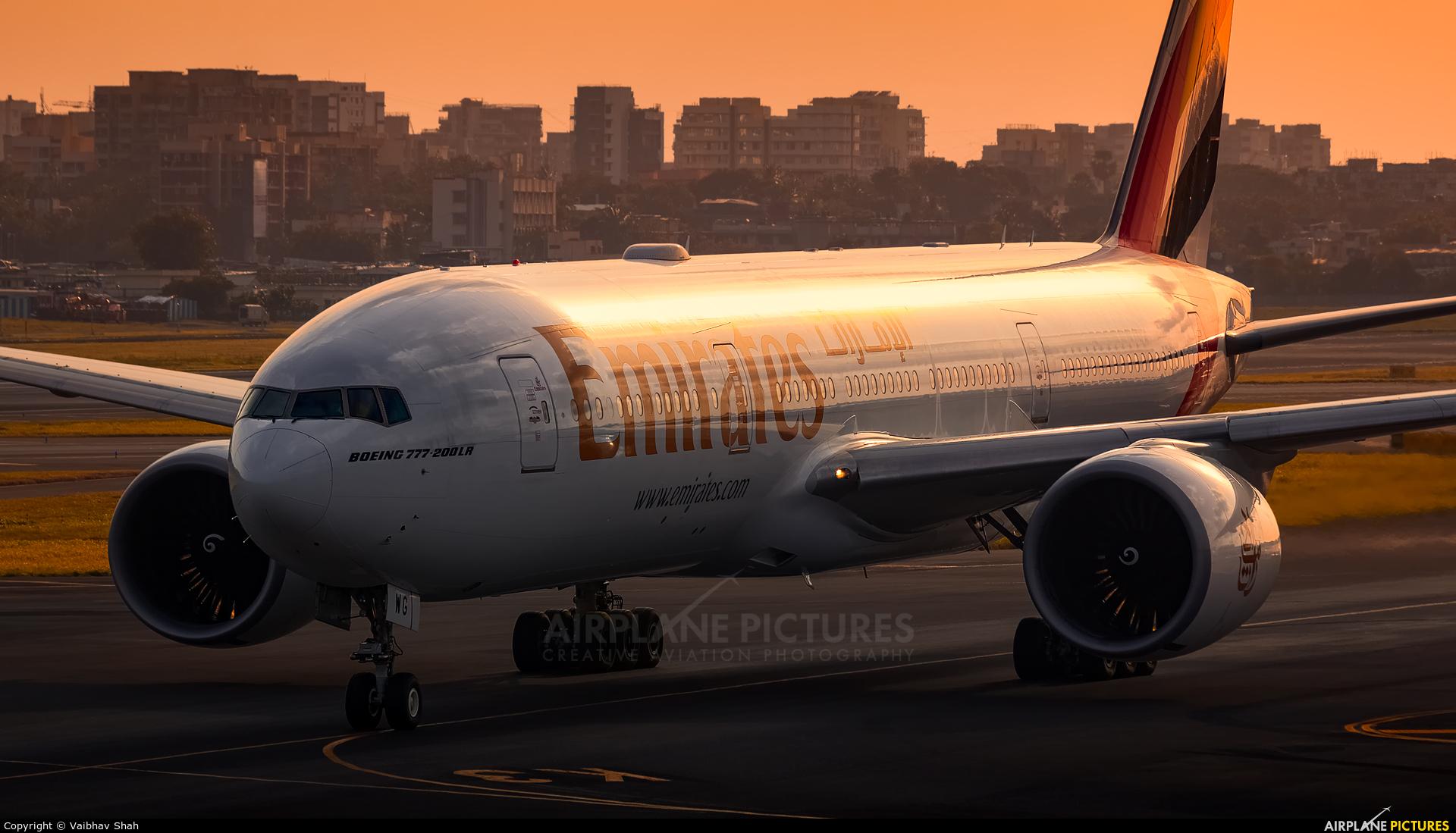 Emirates Airlines A6-EWG aircraft at Mumbai - Chhatrapati Shivaji Intl