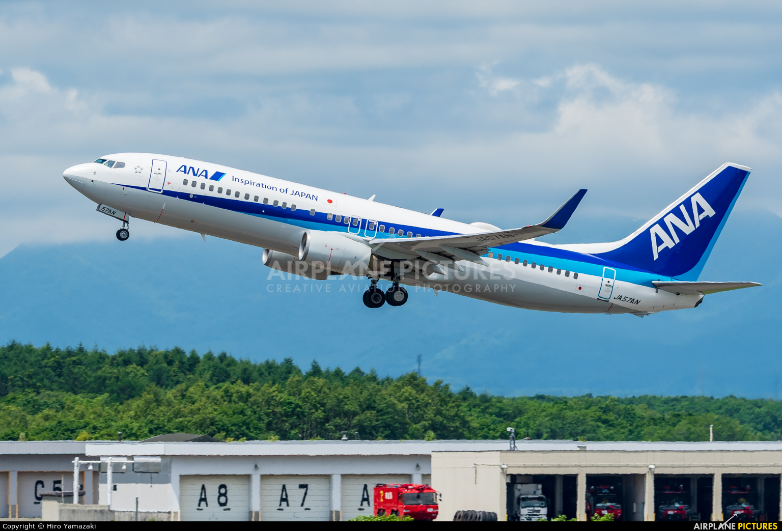 ANA - All Nippon Airways JA57AN aircraft at New Chitose