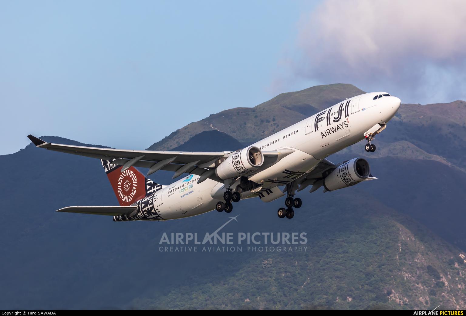 Fiji Airways DQ-FJV aircraft at HKG - Chek Lap Kok Intl