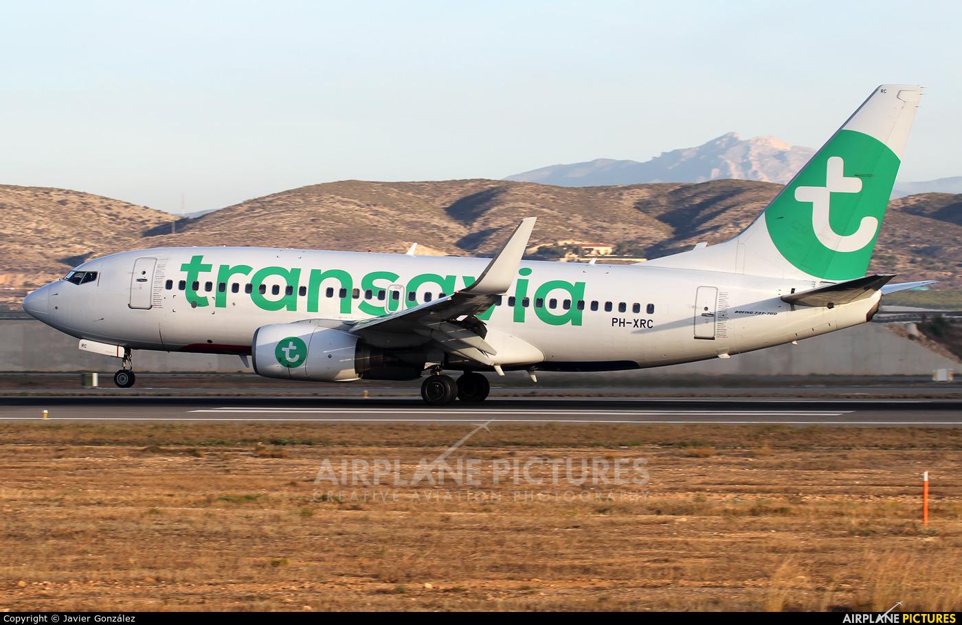 Transavia PH-XRC aircraft at Alicante - El Altet