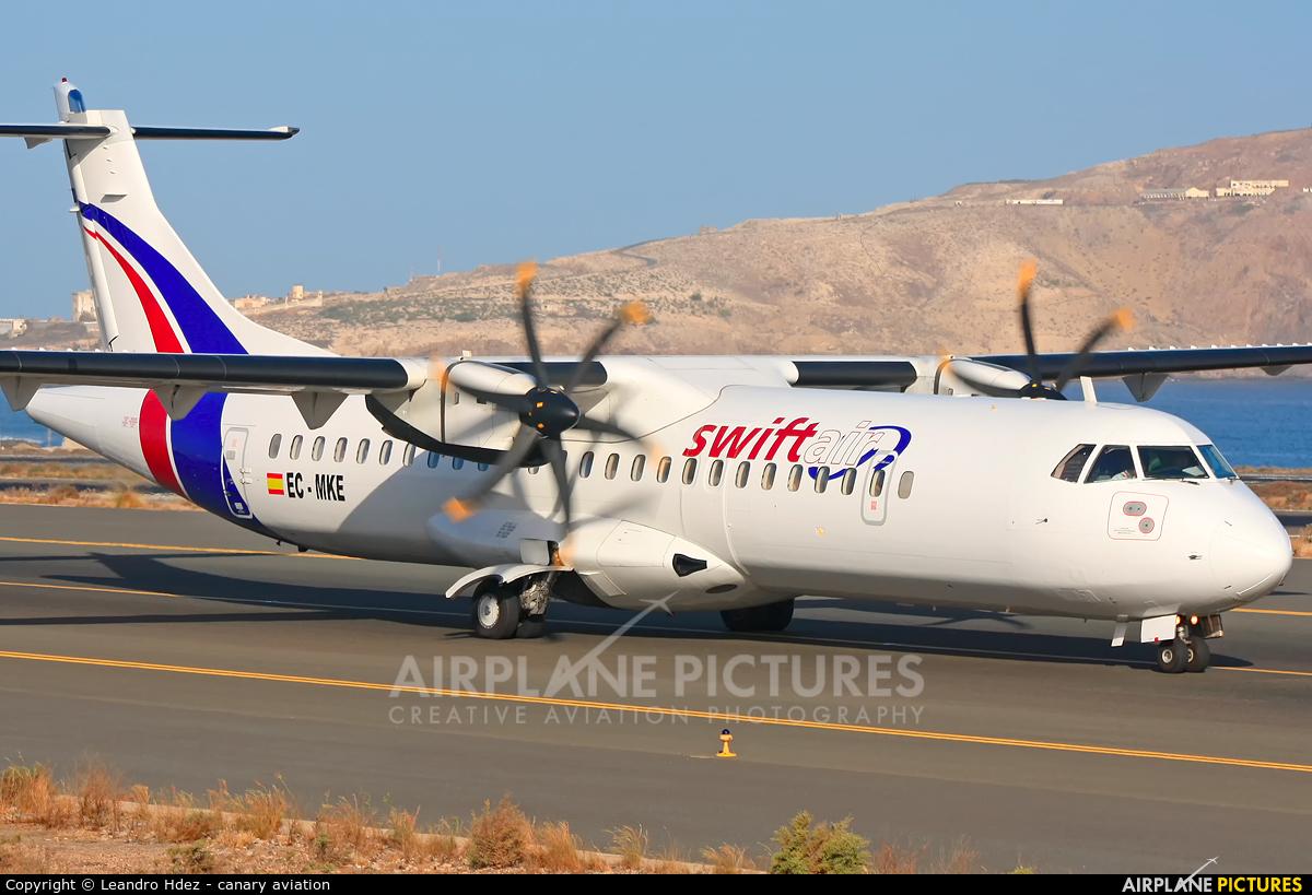 Swift Air EC-MKE aircraft at Aeropuerto de Gran Canaria