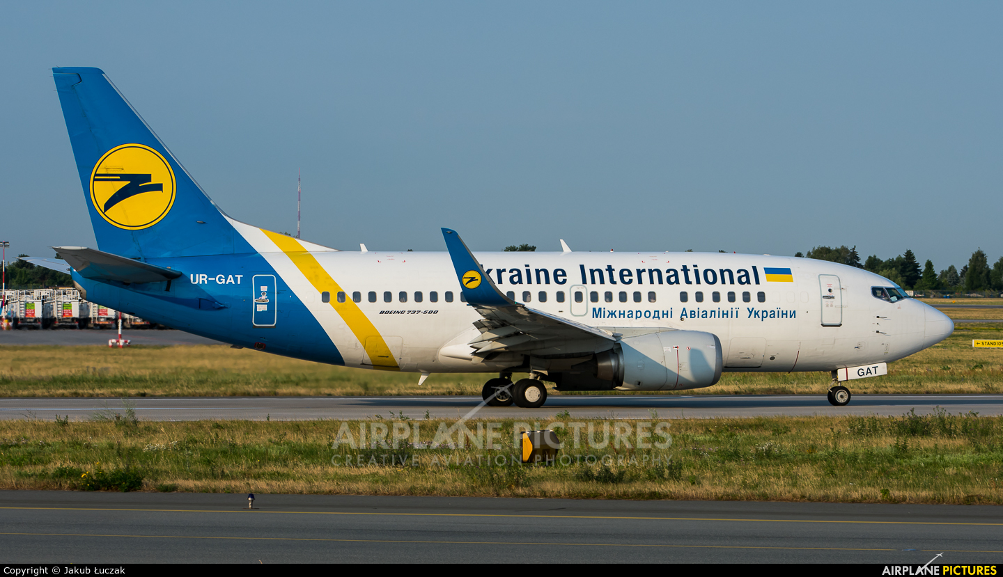 Ukraine International Airlines UR-GAT aircraft at Warsaw - Frederic Chopin