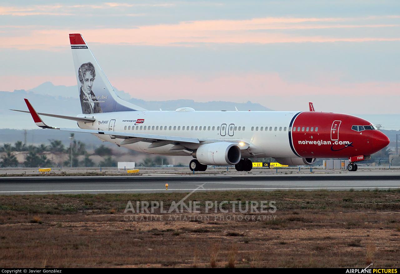 Norwegian Air International EI-FHW aircraft at Alicante - El Altet