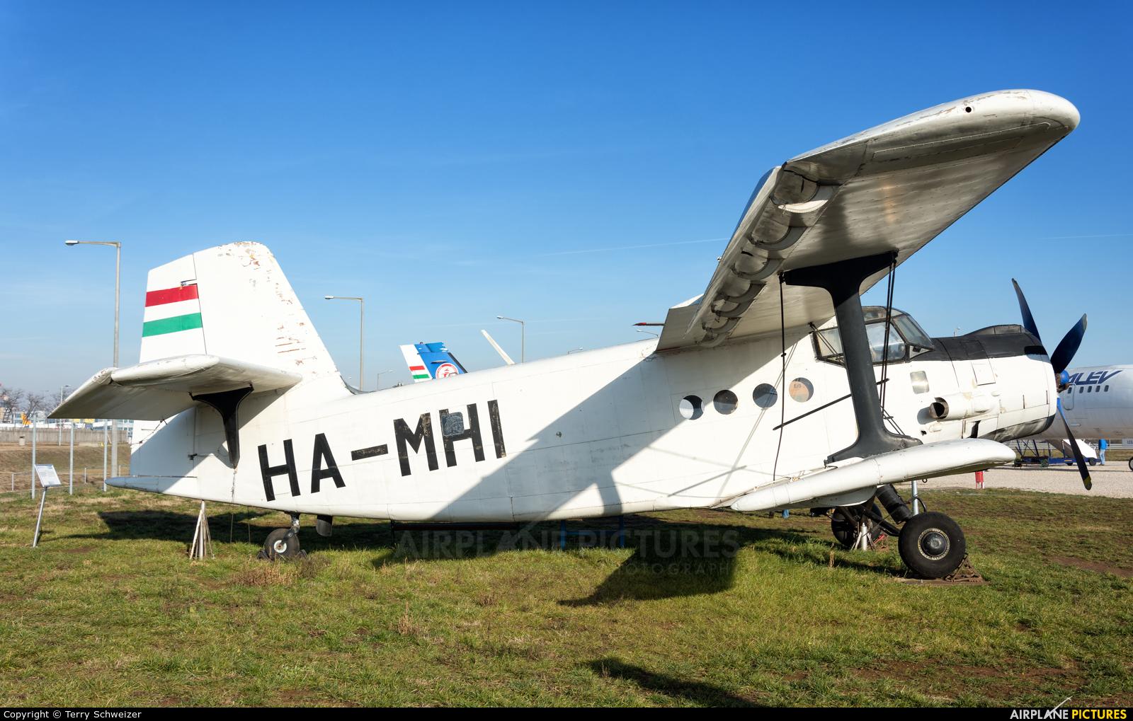 Budapest Aircraft Service HA-MHI aircraft at Budapest Ferihegy Museum