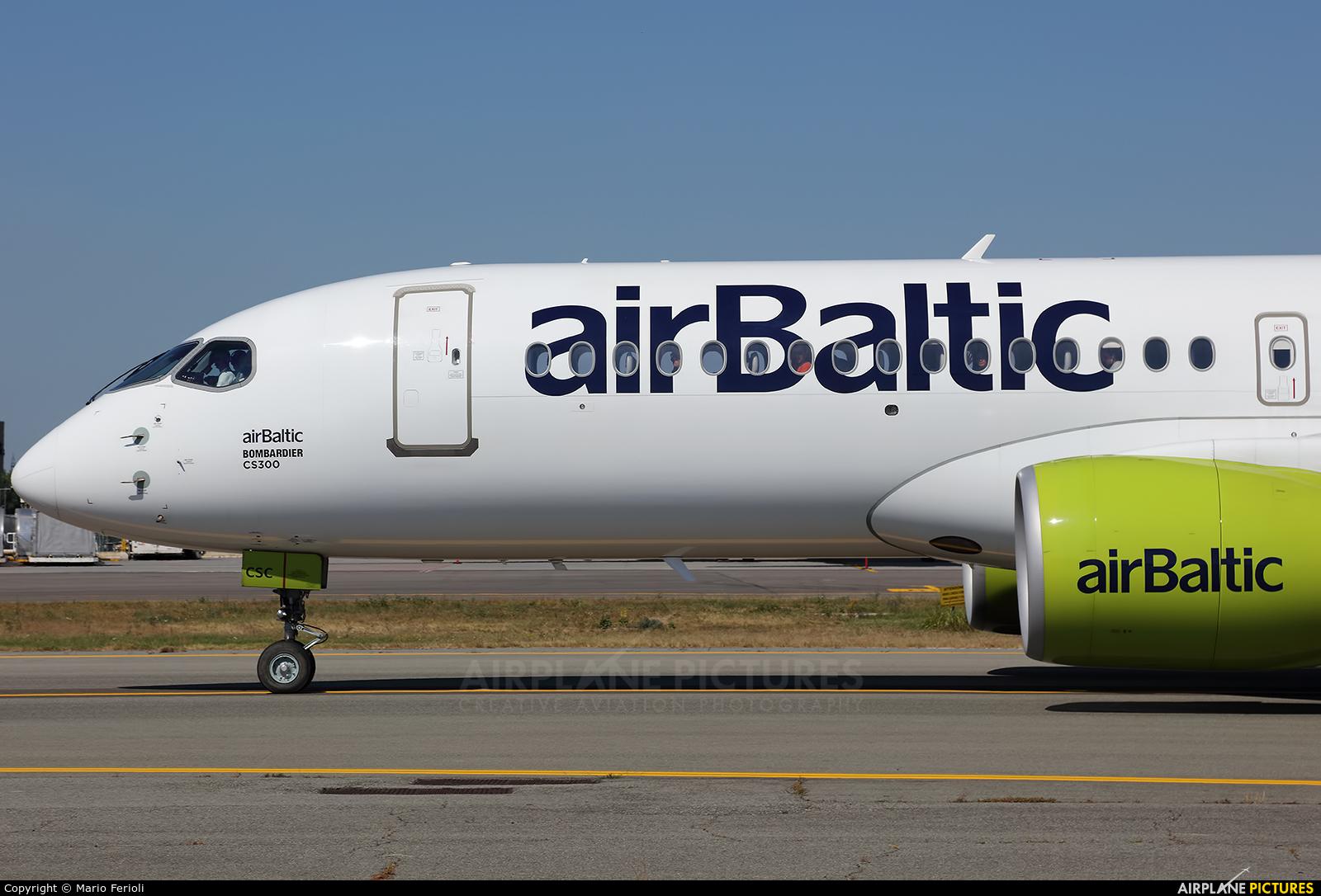 Air Baltic YL-CSC aircraft at Milan - Malpensa