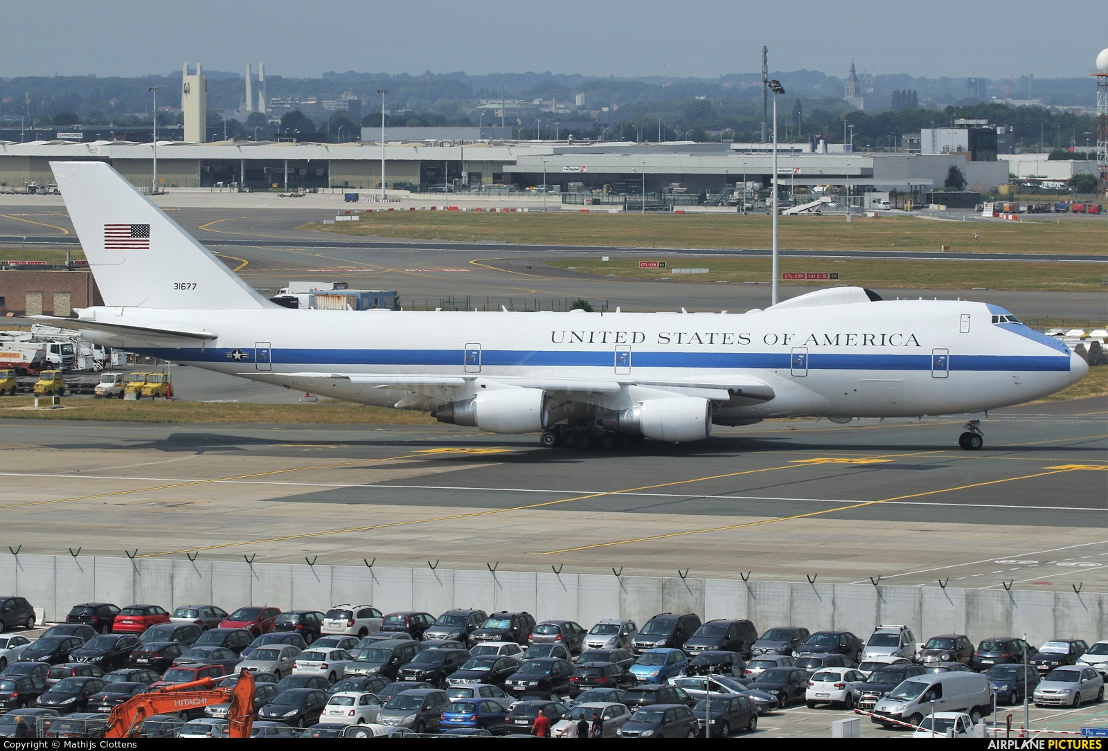 USA - Air Force 73-1677 aircraft at Brussels - Zaventem