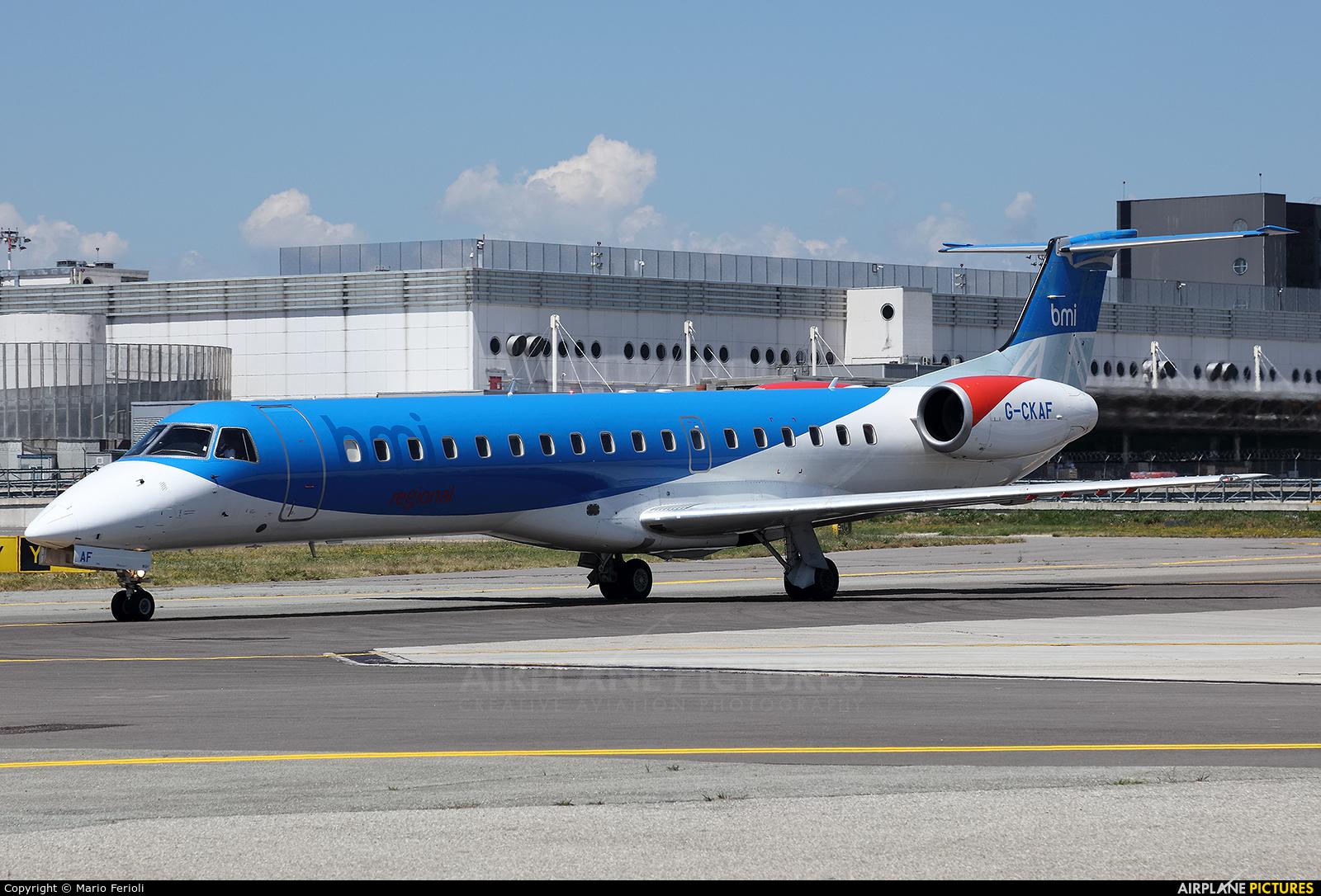 BMI Regional G-CKAF aircraft at Milan - Malpensa
