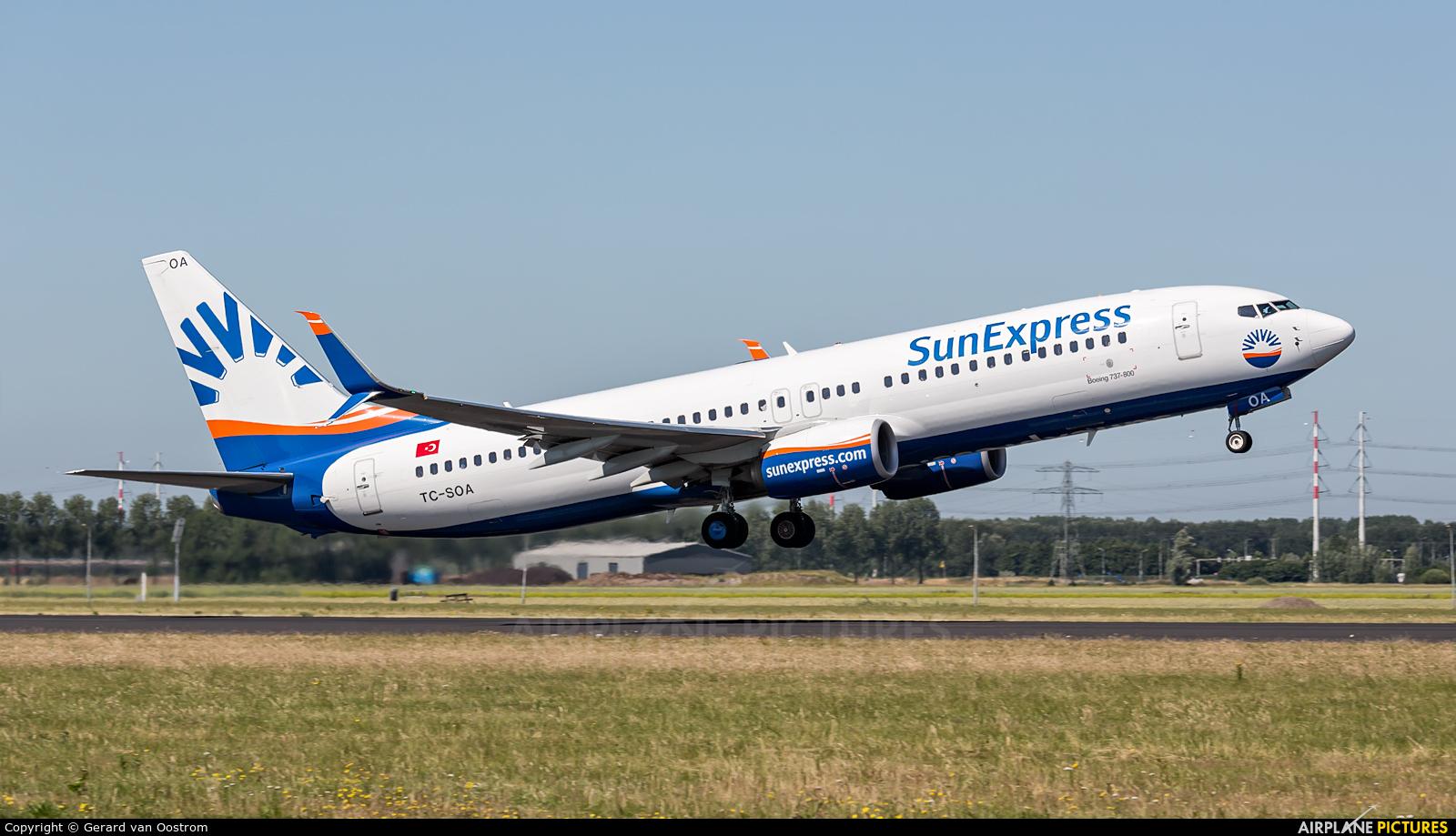 SunExpress TC-SOA aircraft at Amsterdam - Schiphol