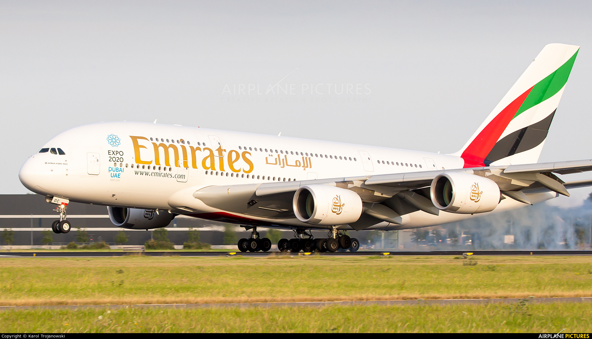Emirates Airlines A6-EOC aircraft at Amsterdam - Schiphol