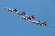 "12 - Russia - Air Force ""Strizhi"" Mikoyan-Gurevich MiG-29UB aircraft"