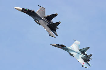 55 RED - Russia - Air Force Sukhoi Su-30SM