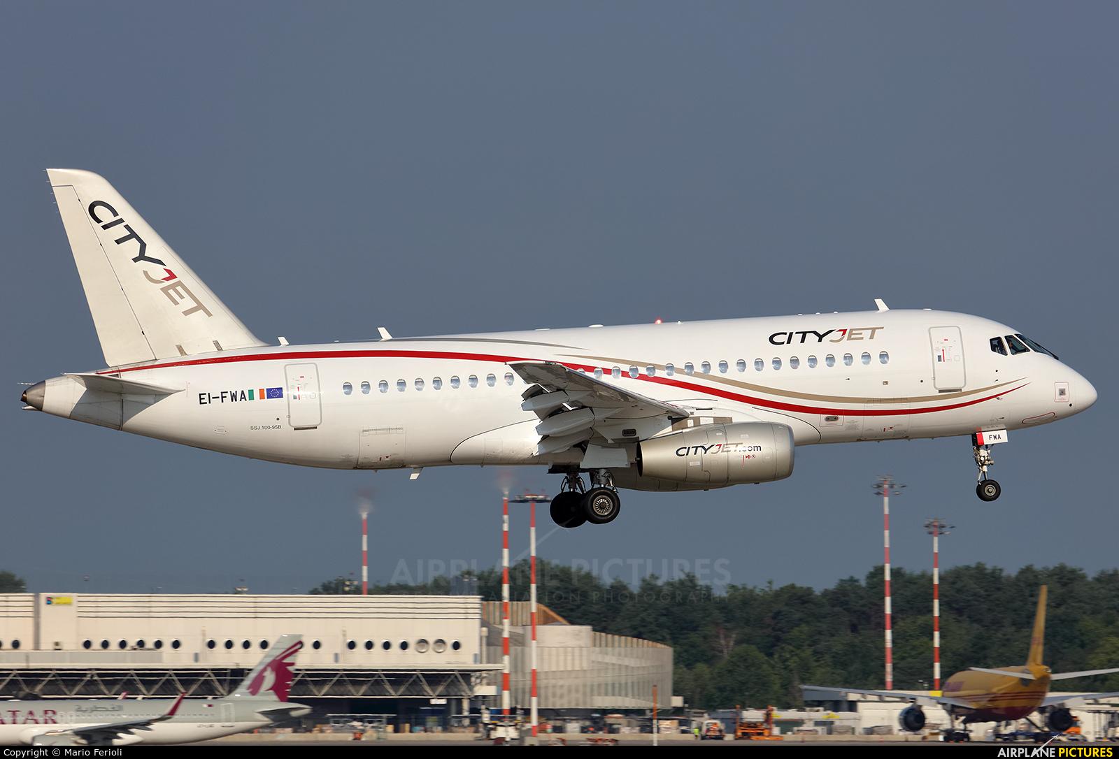 CityJet EI-FWA aircraft at Milan - Malpensa