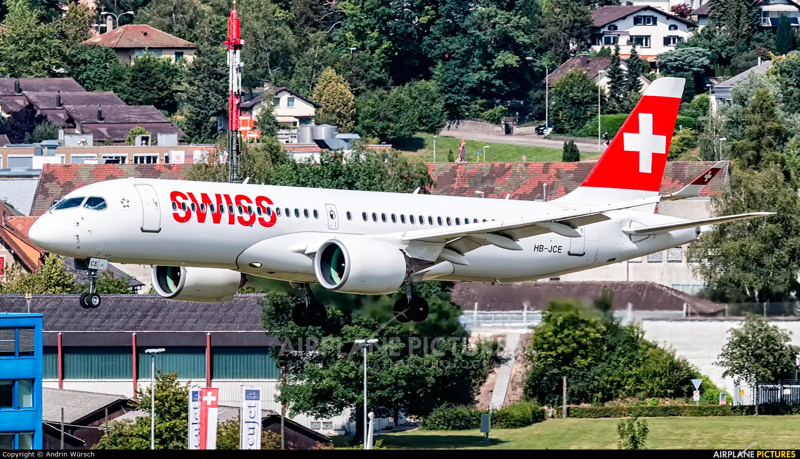 Swiss HB-JCE aircraft at Zurich