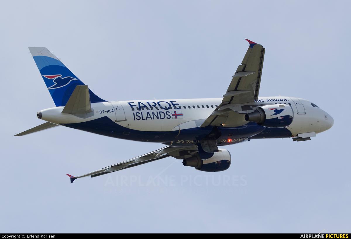 Atlantic Airways OY-RCG aircraft at Vagar