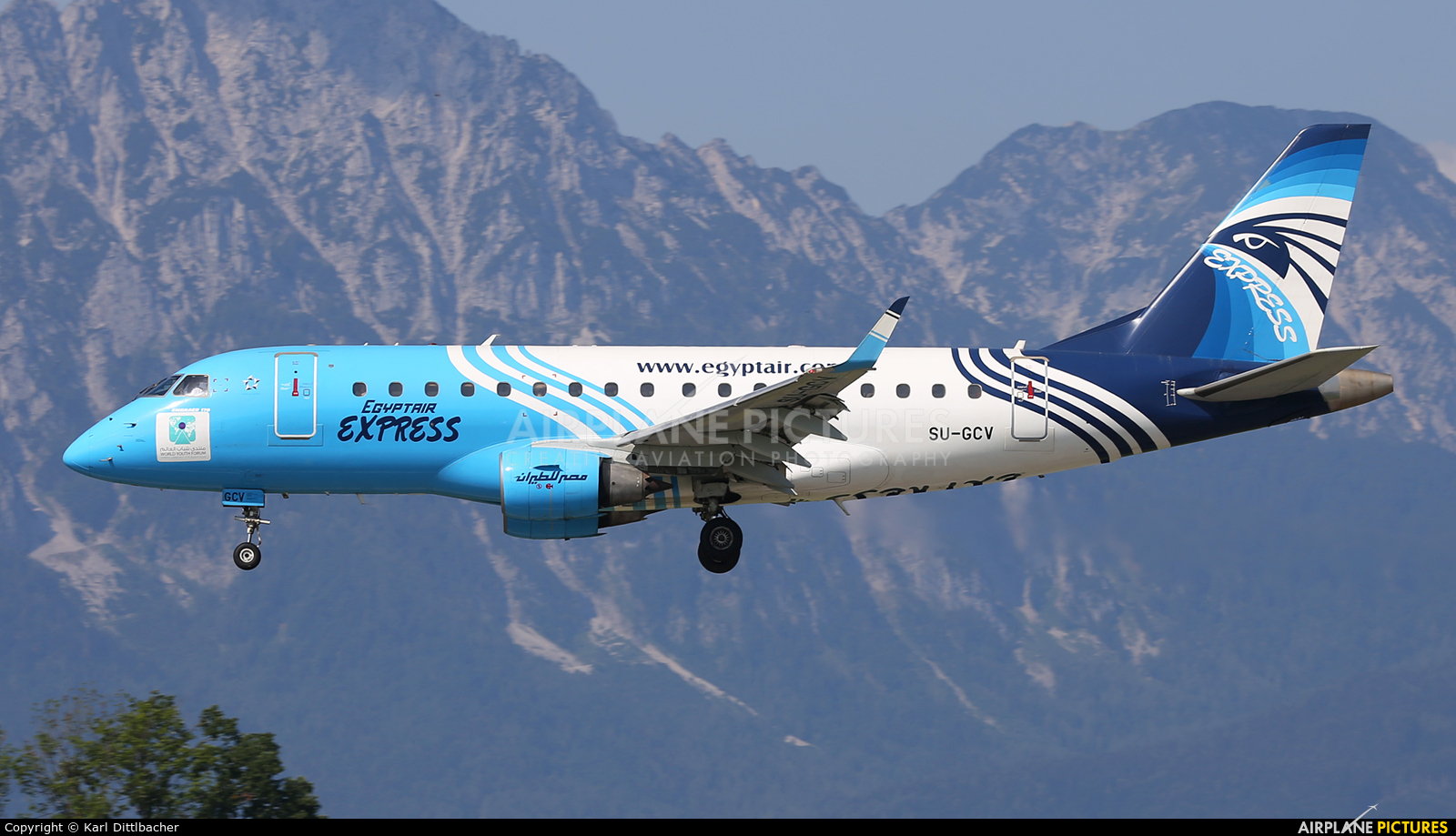Egyptair Express SU-GCV aircraft at Salzburg
