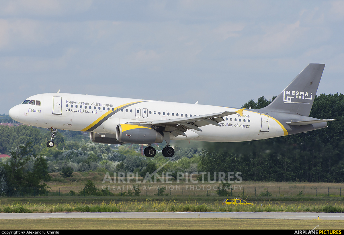 Nesma Airlines SU-NMB aircraft at Budapest Ferenc Liszt International Airport