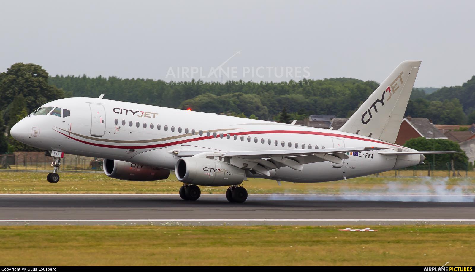 CityJet EI-FWA aircraft at Brussels - Zaventem