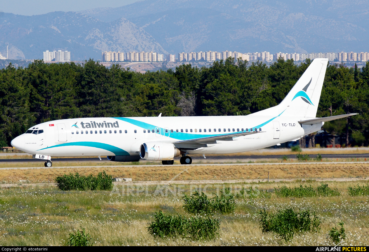 Tailwind Airlines TC-TLD aircraft at Antalya