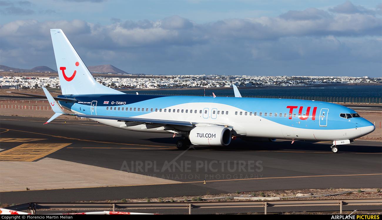 TUI Airways G-TAWO aircraft at Lanzarote - Arrecife