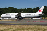 First flight of new JAL 787 Dreamliner title=