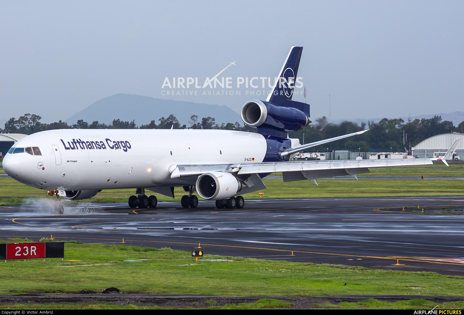 Lufthansa Cargo D-ALCD aircraft at Mexico City - Licenciado Benito Juarez Intl