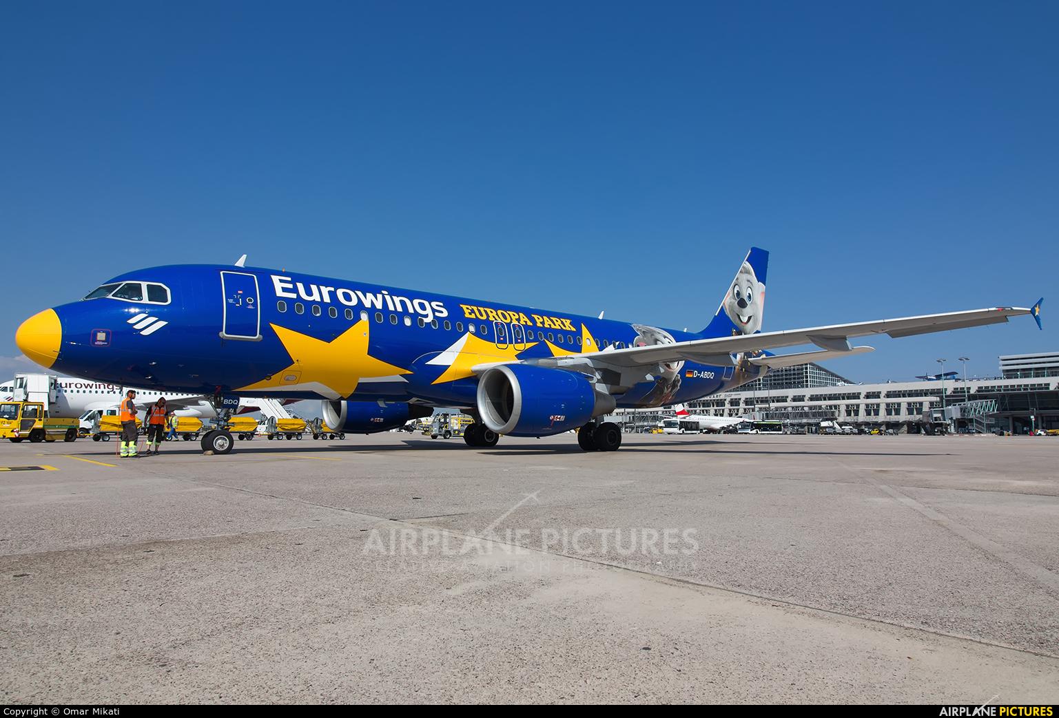 Eurowings D-ABDQ aircraft at Stuttgart