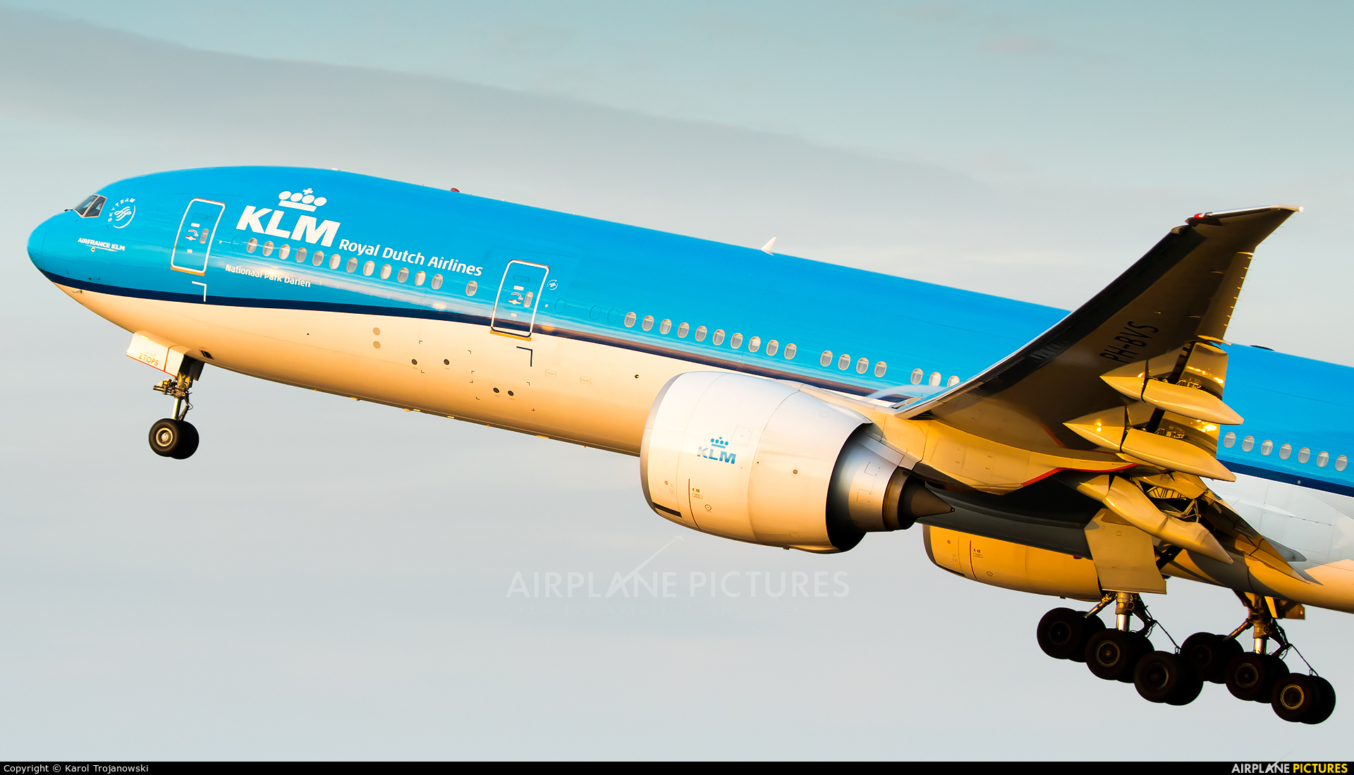 KLM PH-BVS aircraft at Amsterdam - Schiphol