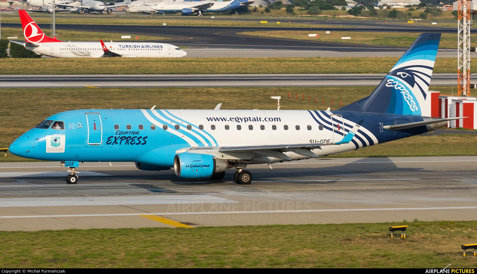 Egyptair Express SU-GDF aircraft at Istanbul - Ataturk