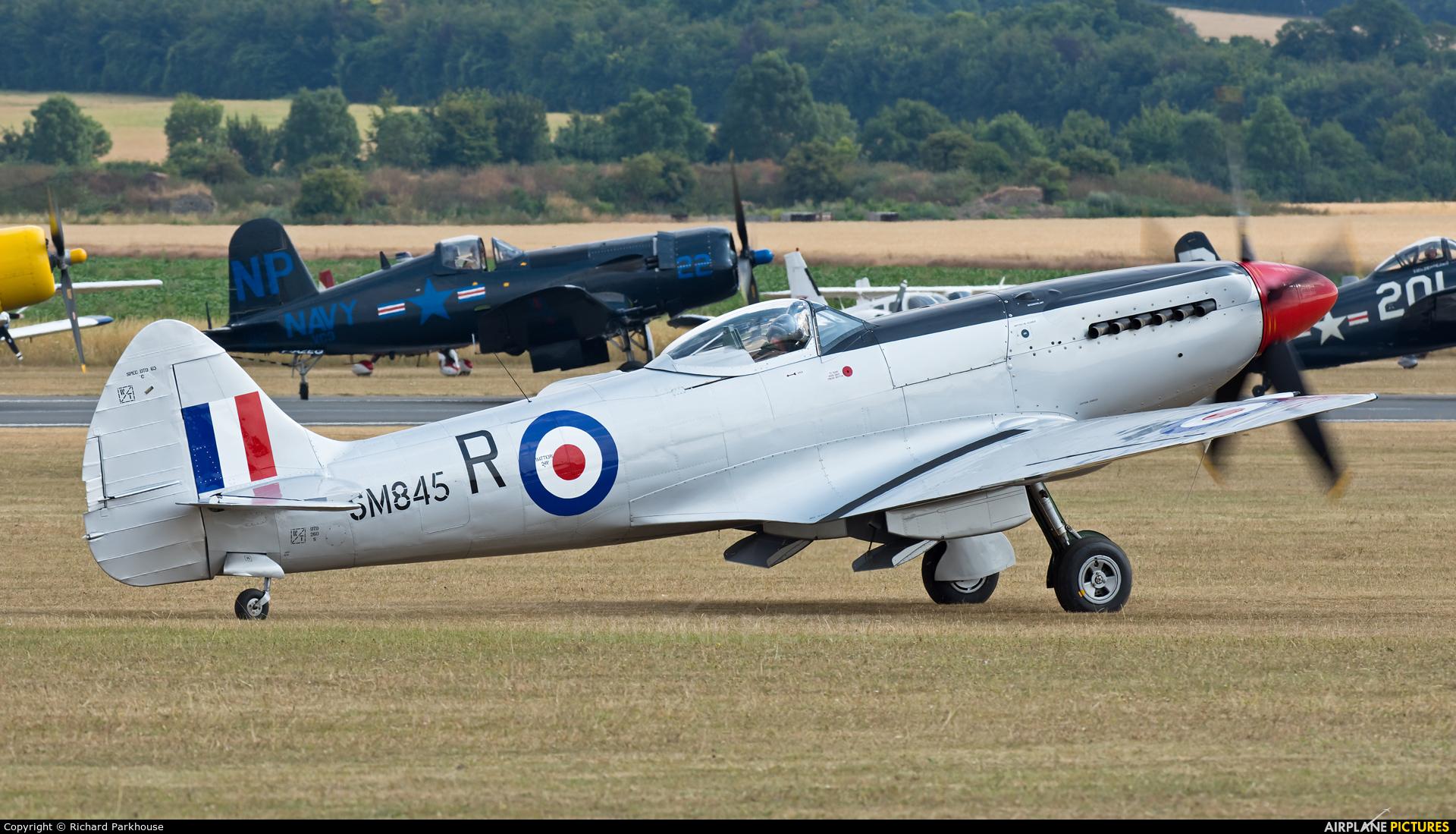 Spitfire G-BUOS aircraft at Duxford