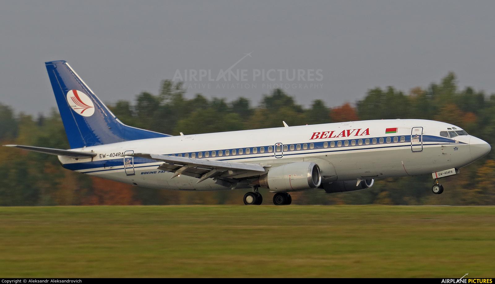 Belavia EW-404PA aircraft at Minsk Intl