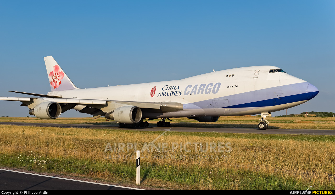 China Airlines Cargo B-18706 aircraft at Luxembourg - Findel