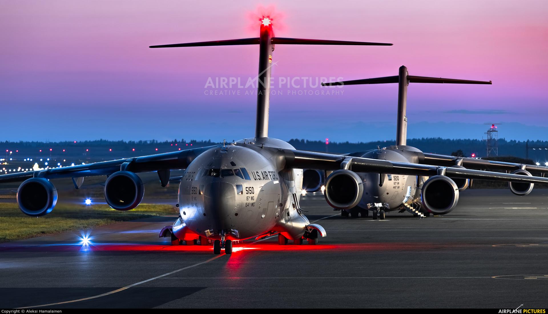 USA - Air Force 05-5150 aircraft at Helsinki - Vantaa