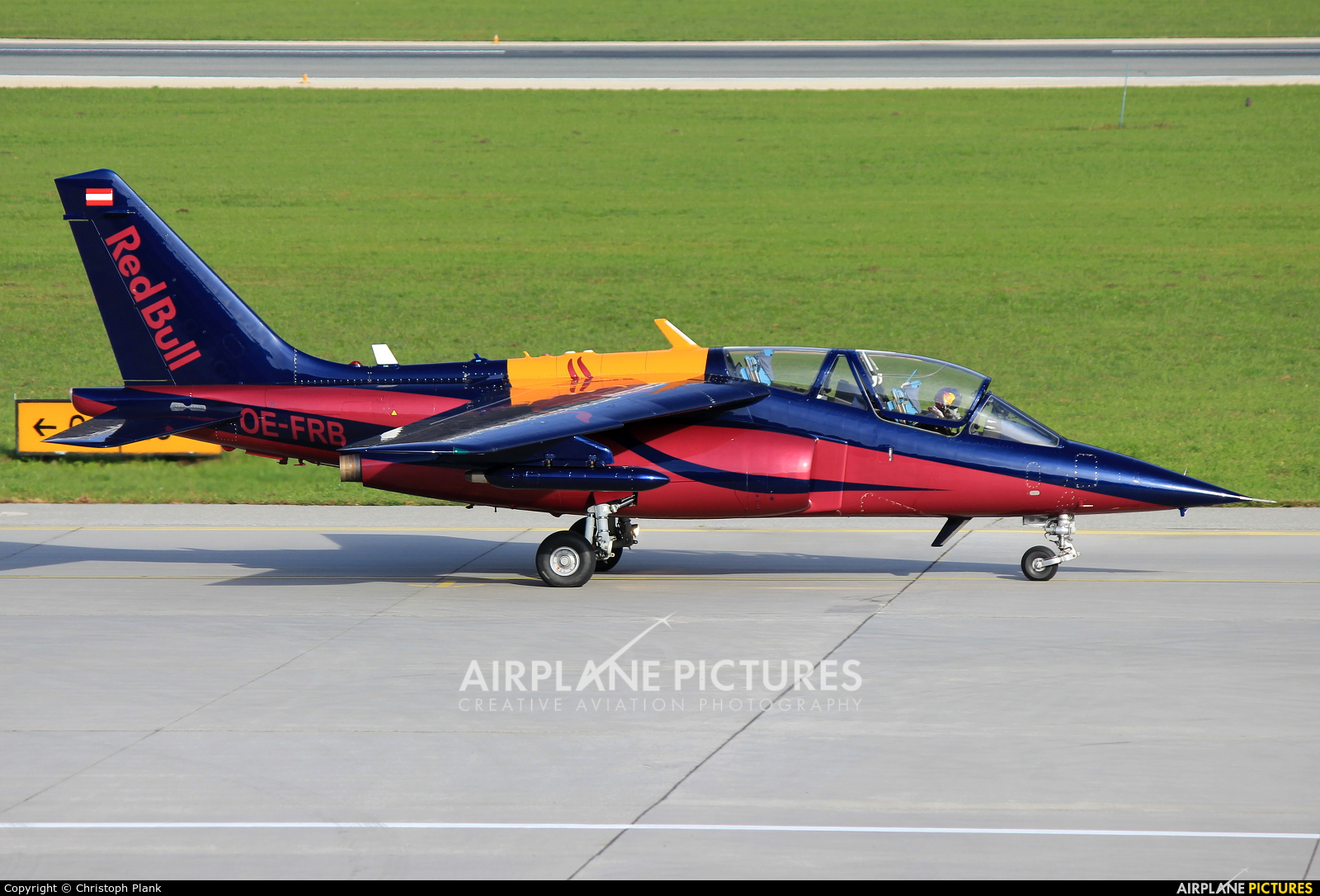 Red Bull OE-FRB aircraft at Innsbruck