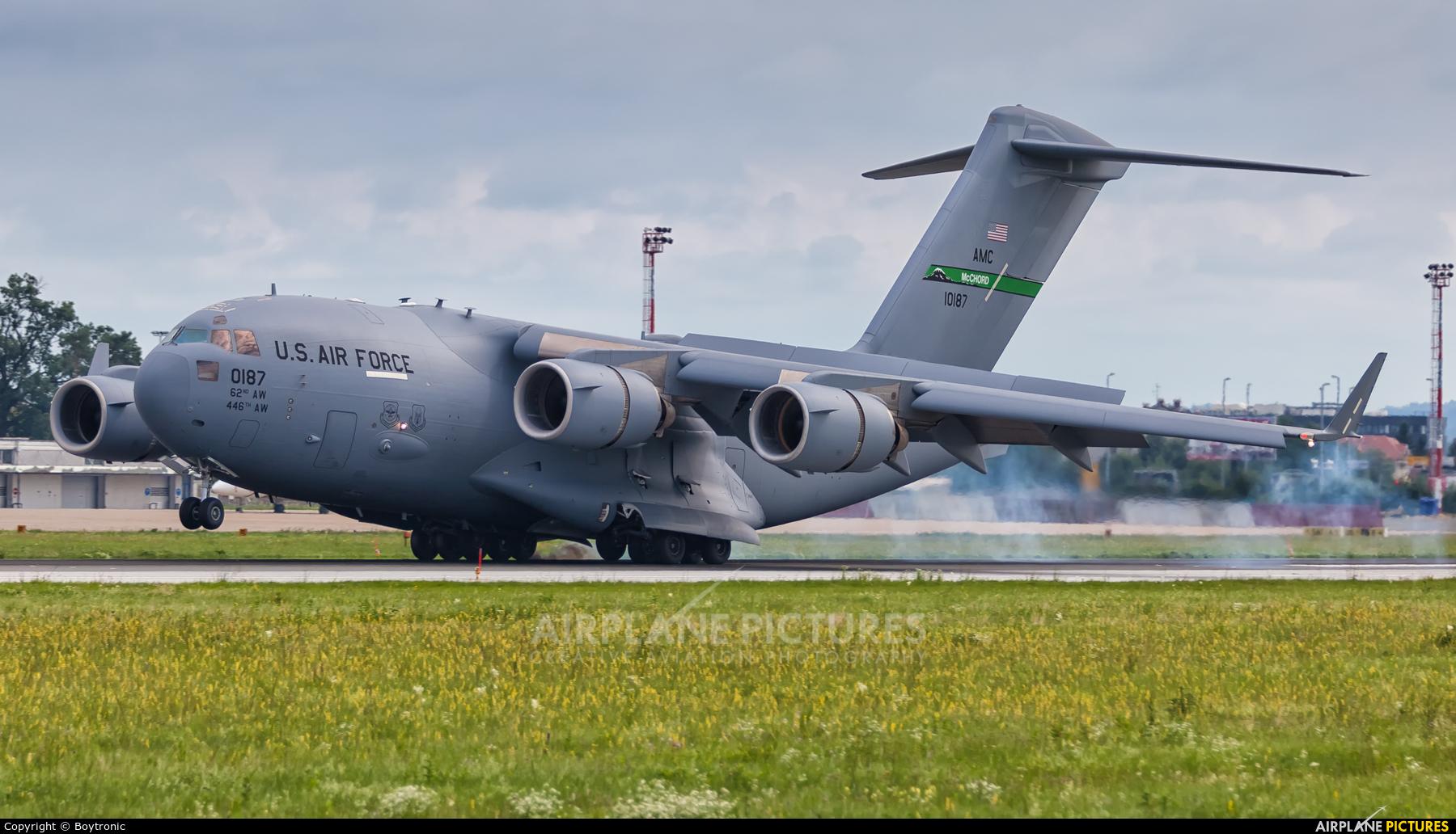 USA - Air Force 01-0187 aircraft at Zagreb