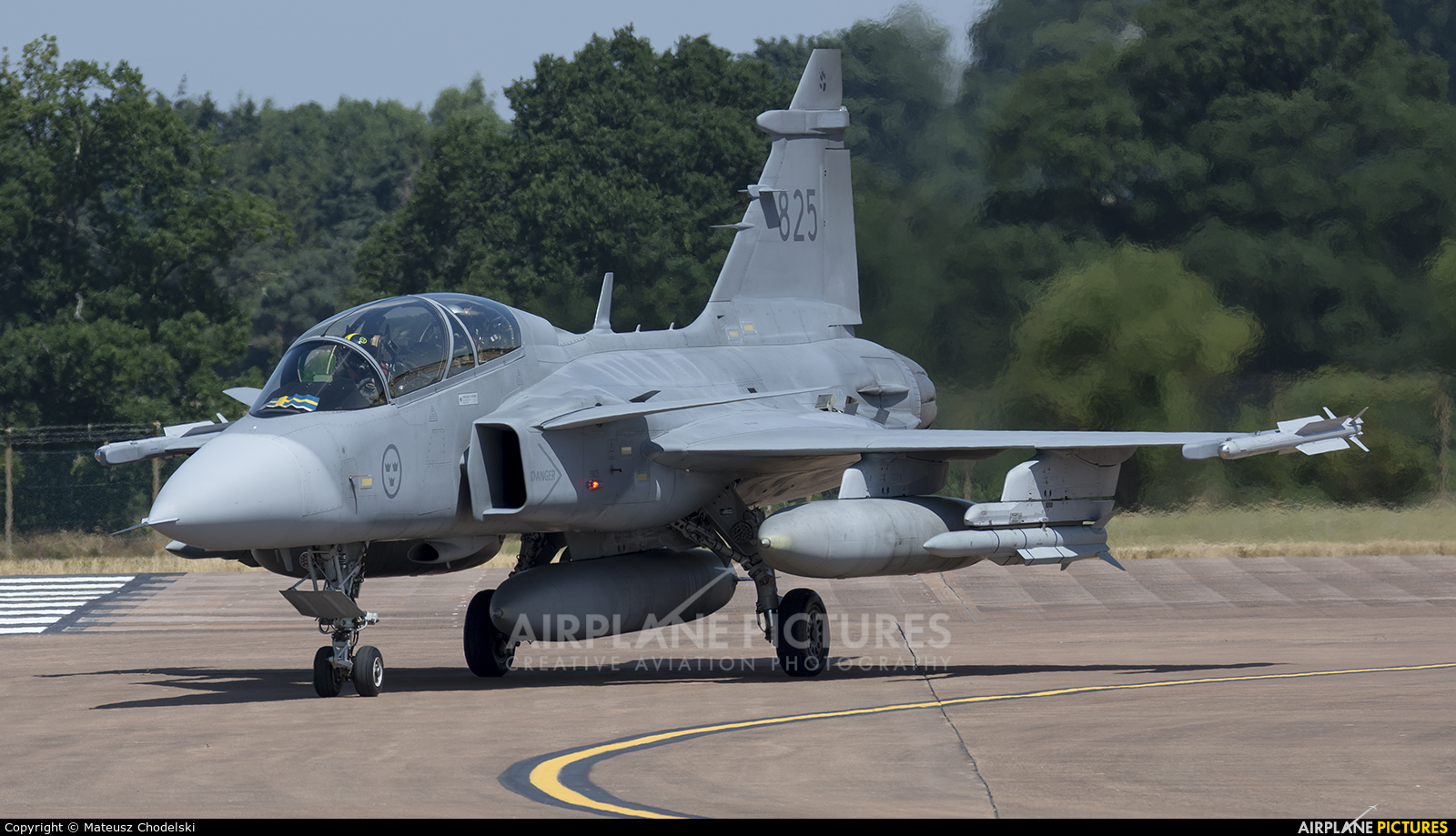 Sweden - Air Force 825 aircraft at Fairford