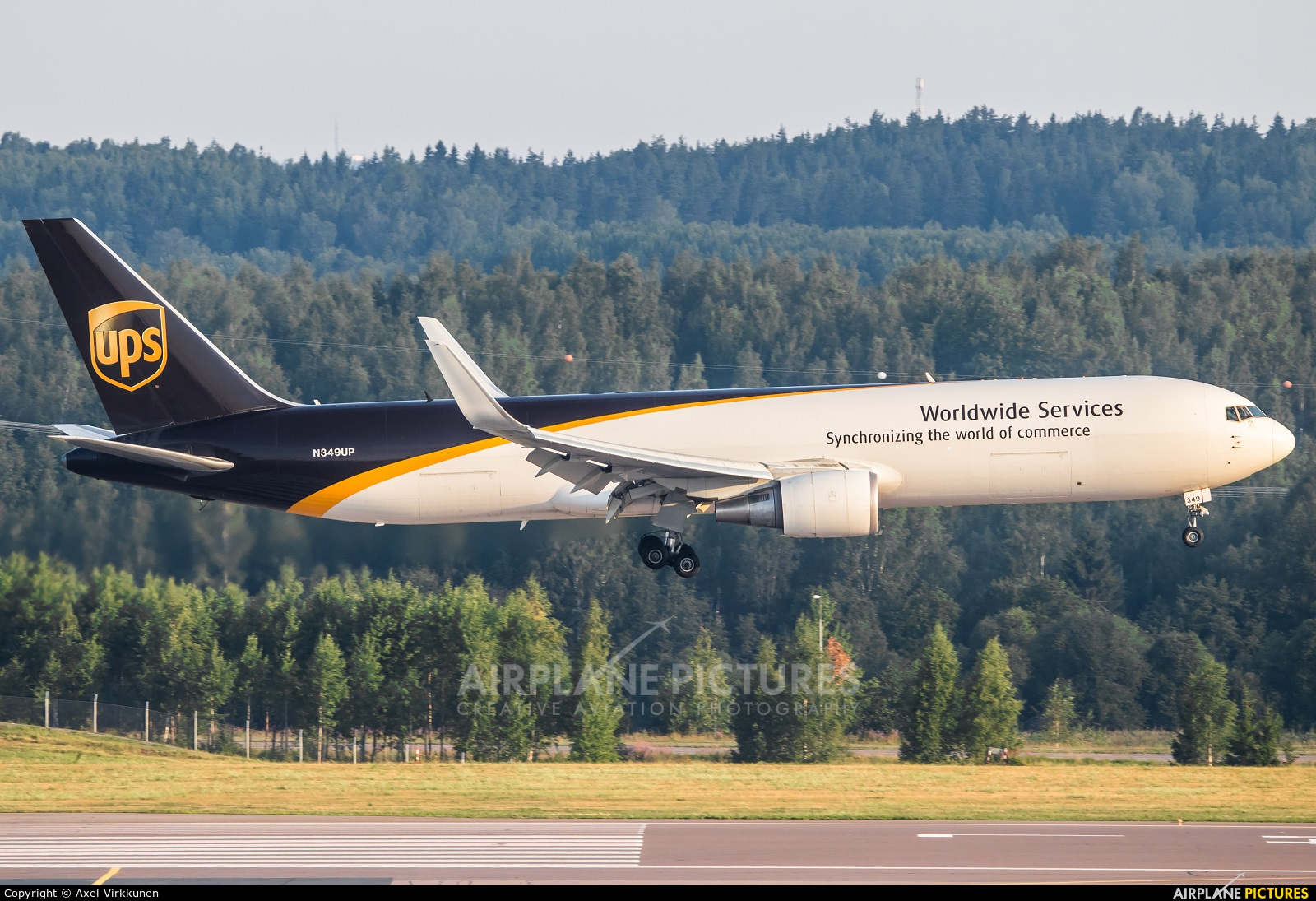 UPS - United Parcel Service N349UP aircraft at Helsinki - Vantaa