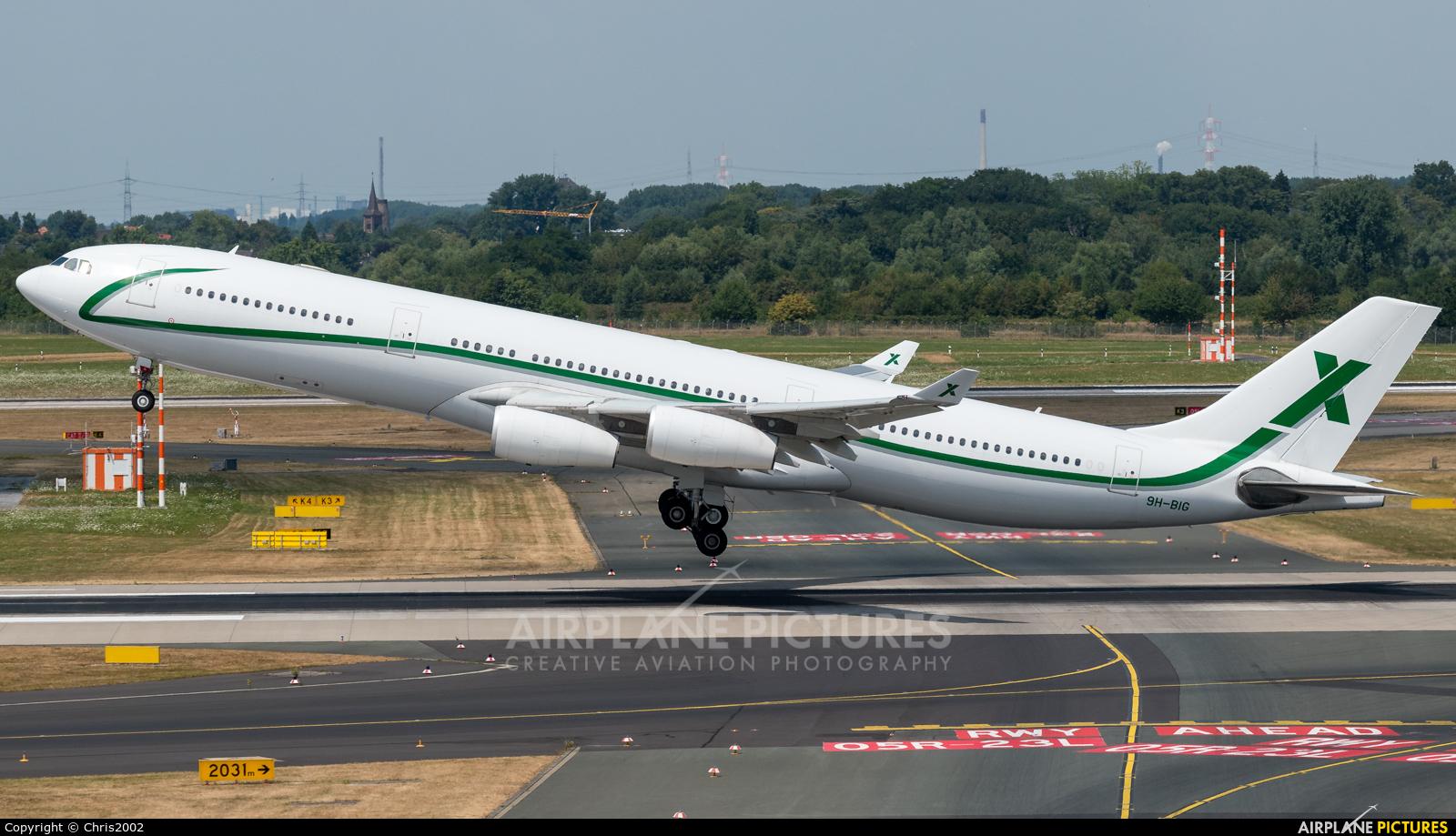AIR X Charter 9H-BIG aircraft at Düsseldorf