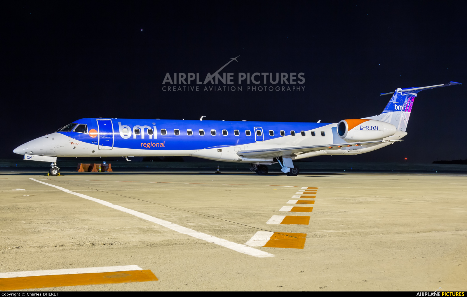 BMI Regional G-RJXH aircraft at Brussels - Zaventem