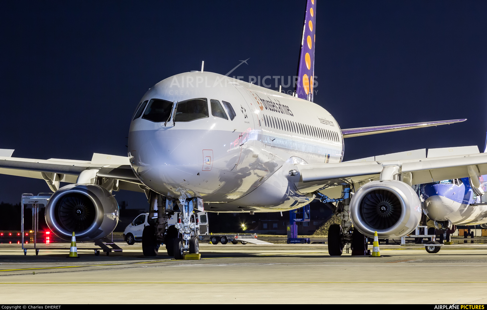 Brussels Airlines EI-FWD aircraft at Brussels - Zaventem