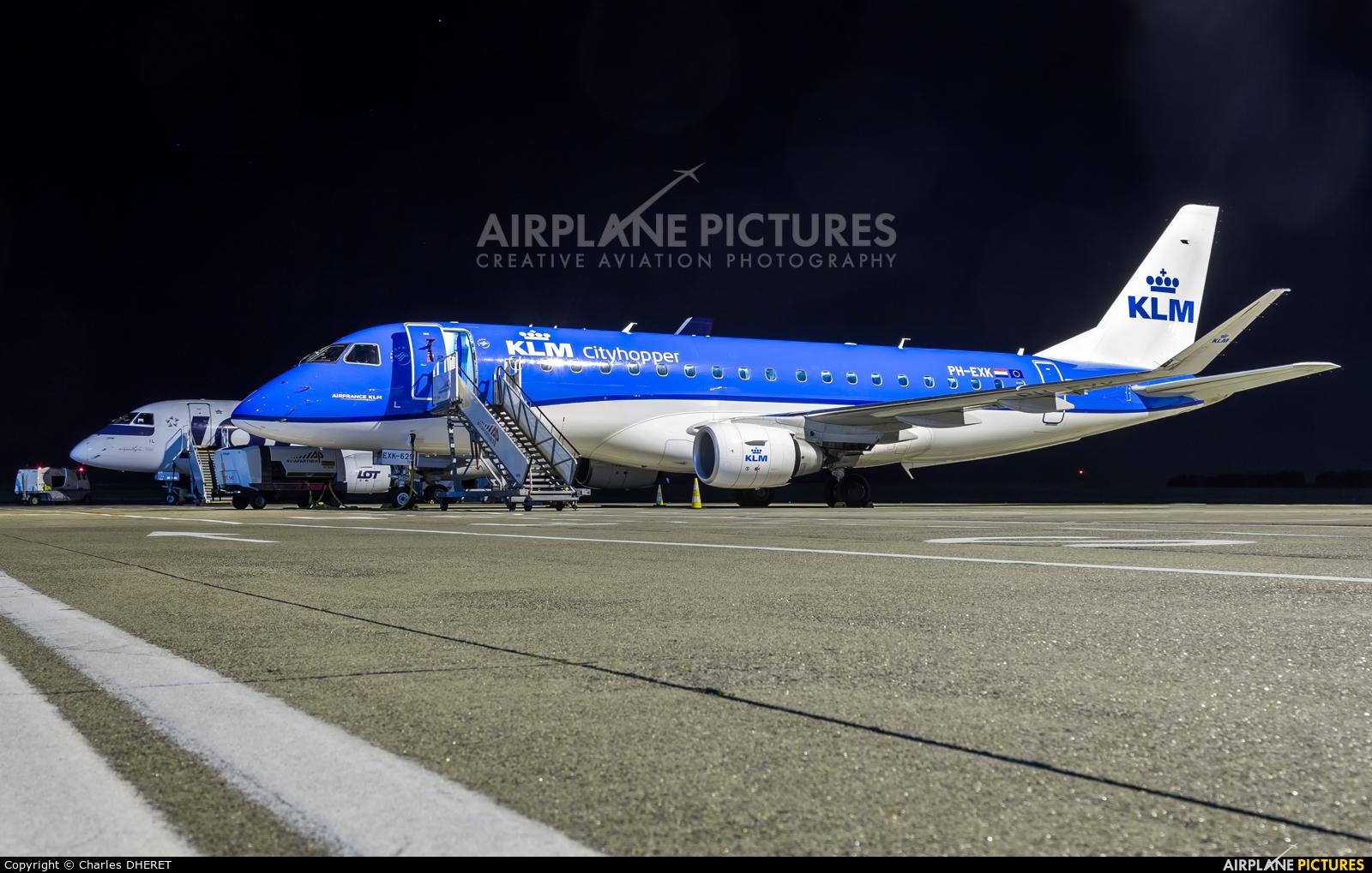 KLM Cityhopper PH-EXK aircraft at Brussels - Zaventem