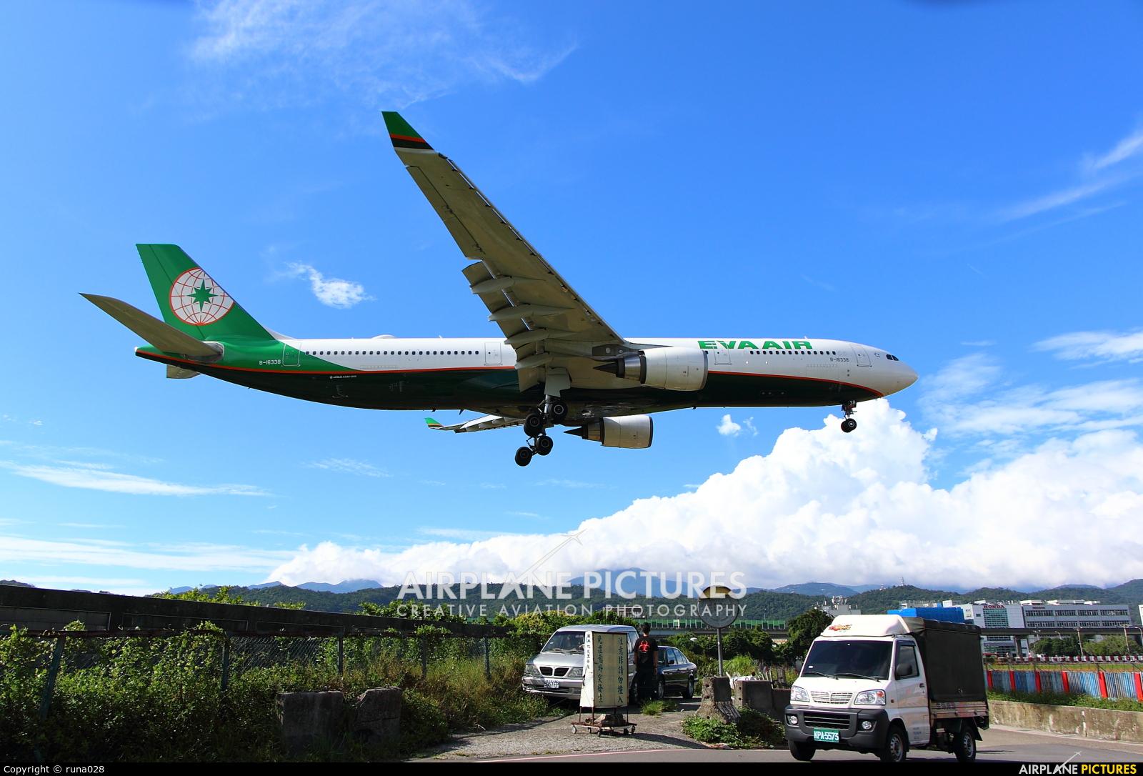 Eva Air B-16338 aircraft at Taipei - Sung Shan